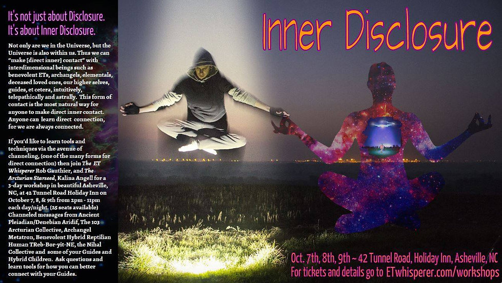 asheville, workshop, aridif, treb, metatron, the nihal, arcturian 103 collective