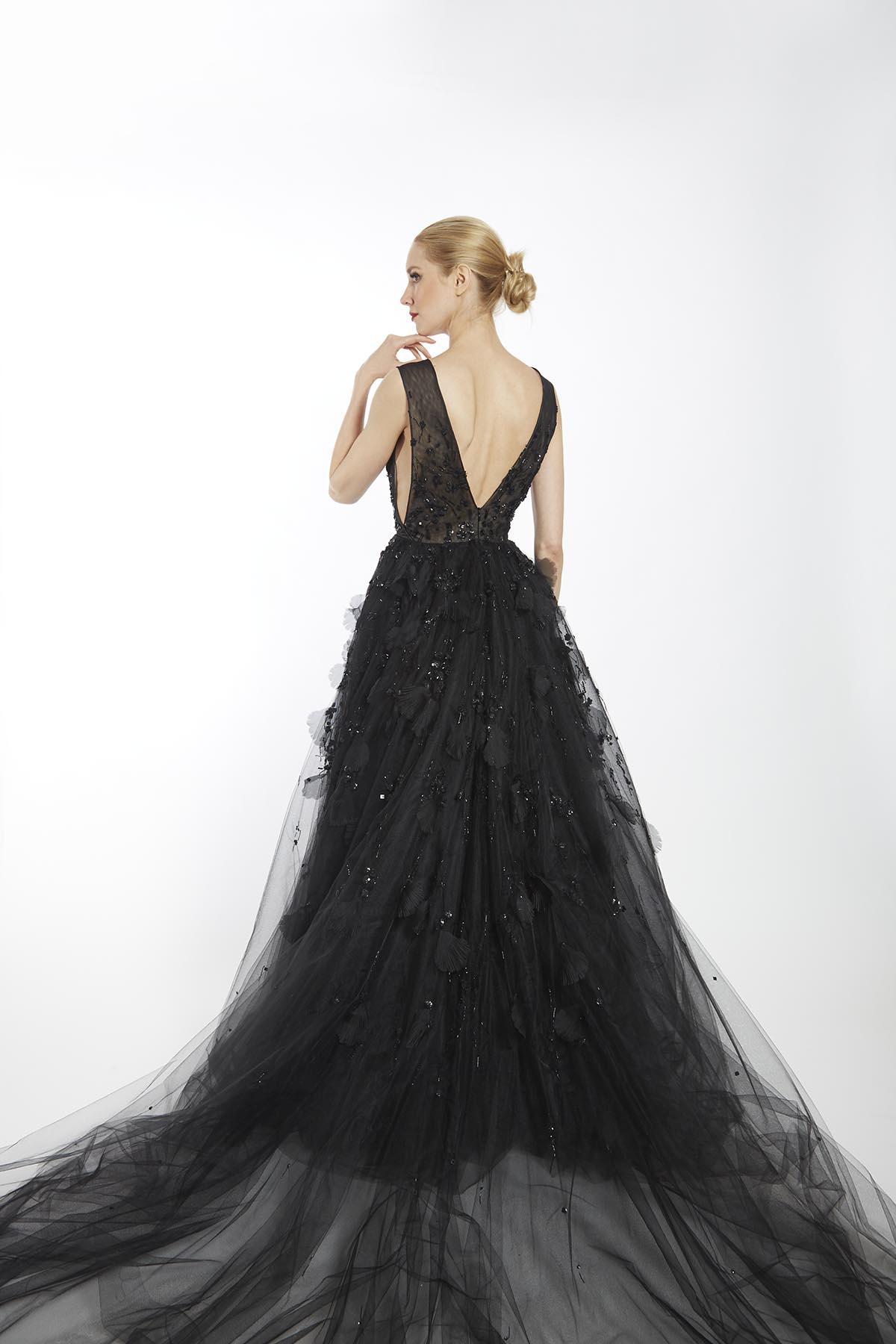 Black Violet Gown