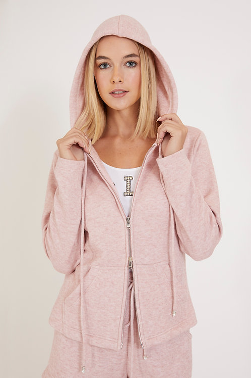 """""""Feel Good"""" Knit Hoodie with Pearl Pulls"""
