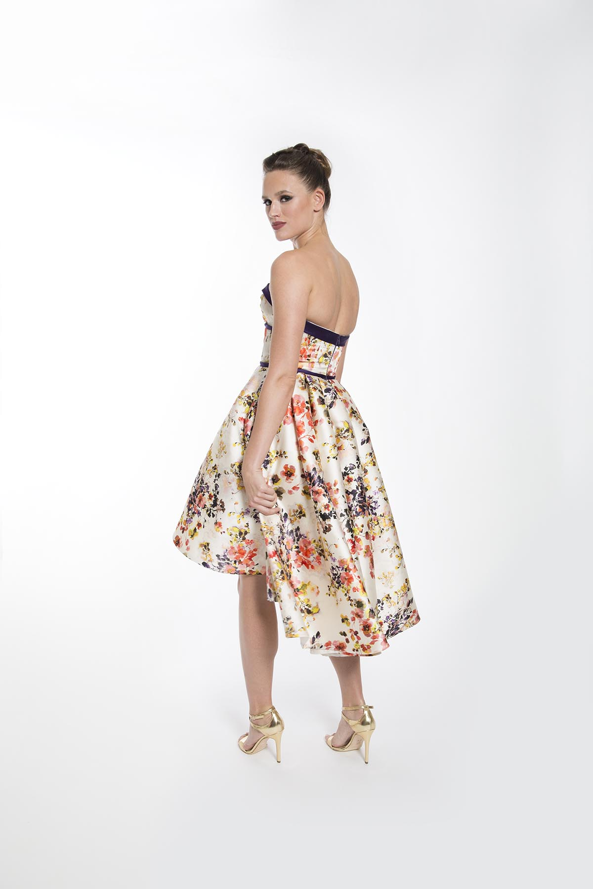 PAULETTE FLORAL COCKTAIL DRESS