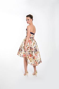 PAULETTE FLORAL COCKTAIL DRESS