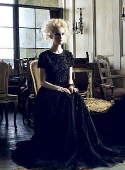 Jill Floral Gown (Black)