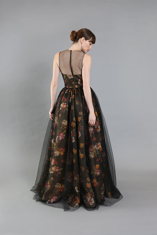 Gigi Floral Organza Gown-back