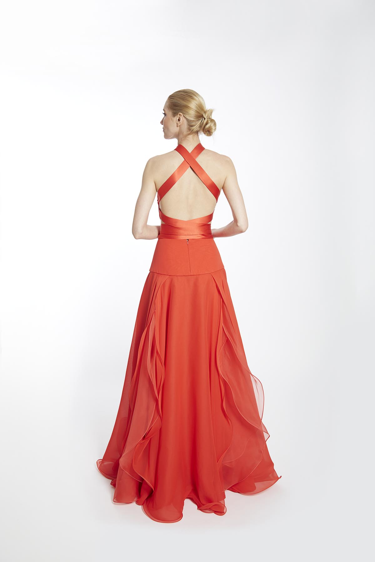 Flame Rose Gown