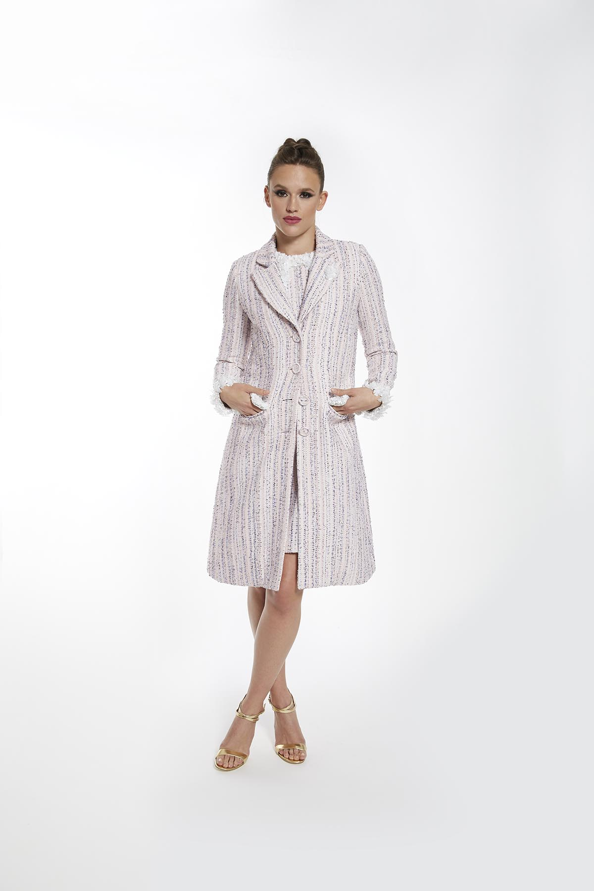 DAISY TWEED DRESS COAT