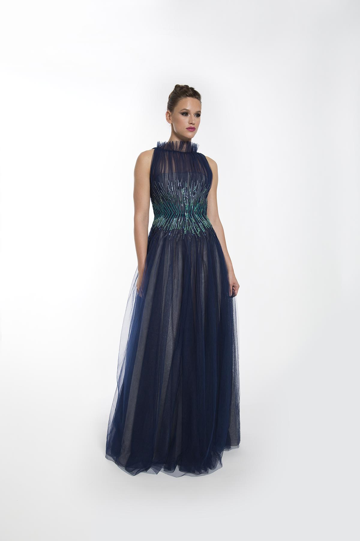 NAVY ICE GOWN