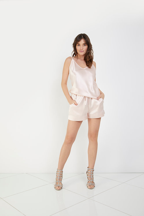 Crepe Back Satin Cami with Chain