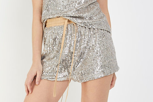 High School Sequin Short