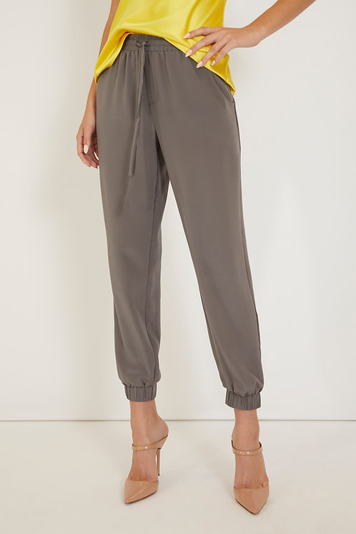 Silk Cuff Pant with Pockets