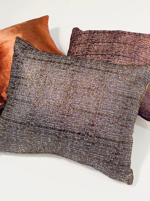 Couture Small Plaid with Velvet Pillow