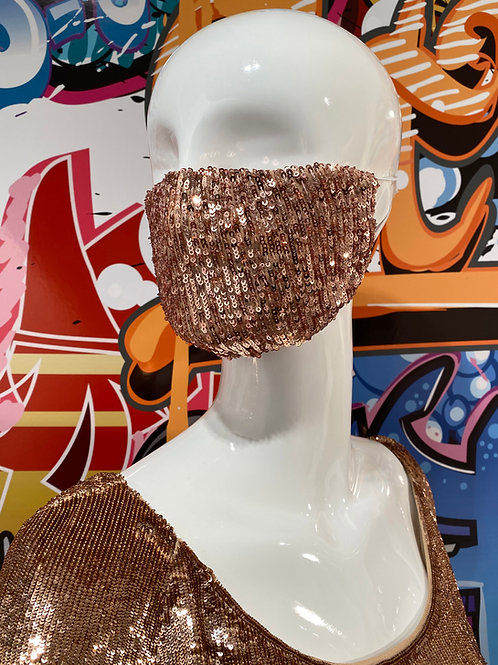 """As Seen on Red Carpet"" Copper Sequin"