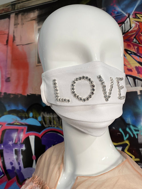 Embellished Love White Mask