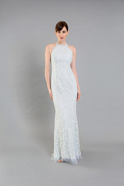 Sylvia Seafoam Beaded Gown-front