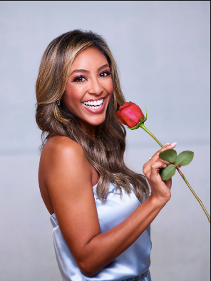 Teysha in our At-Leisure Collection promoting her national debue on The Bachelorette Season 16.