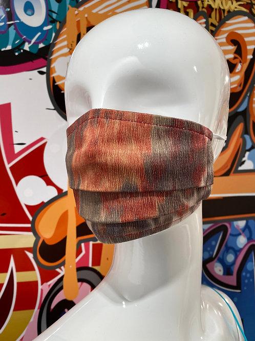 Wash Print Pleated Mask