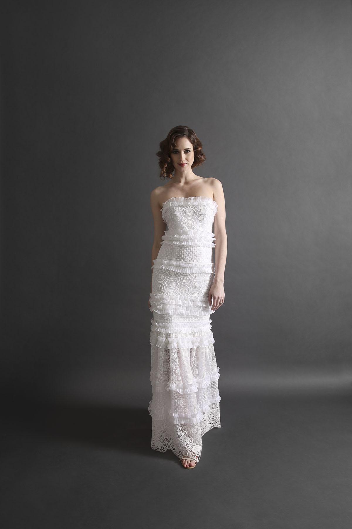Laurie Ann Ruffle Gown _Runway
