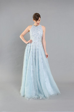 Jill Beaded Lace Tank Gown-front