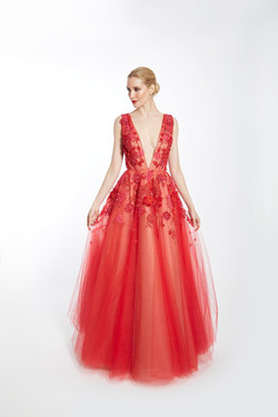 Flame Collette Gown