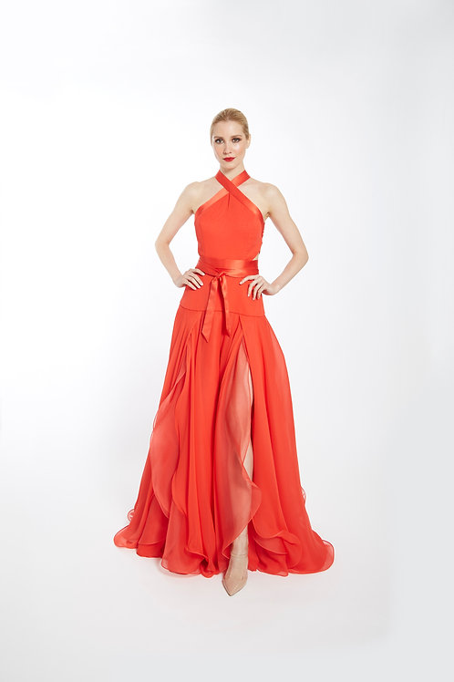 Flame Rose Gown - Size 4