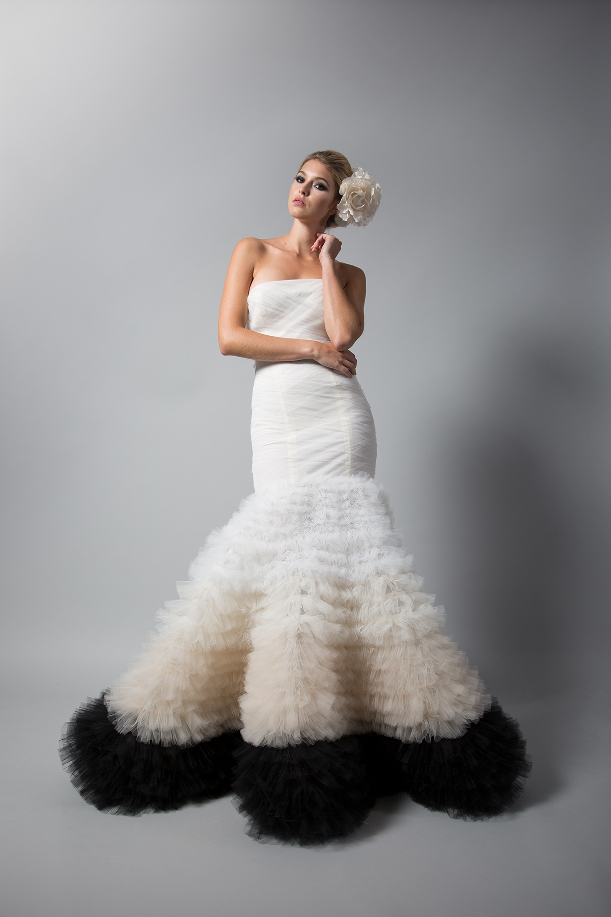 Vergera Ombre Gown-F