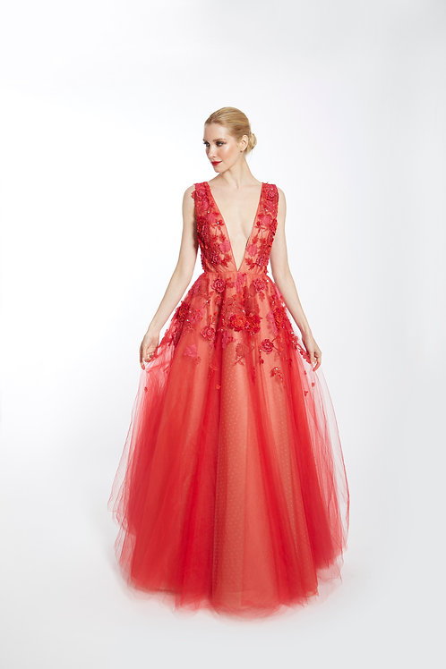 Flame Colette Gown - Size 4