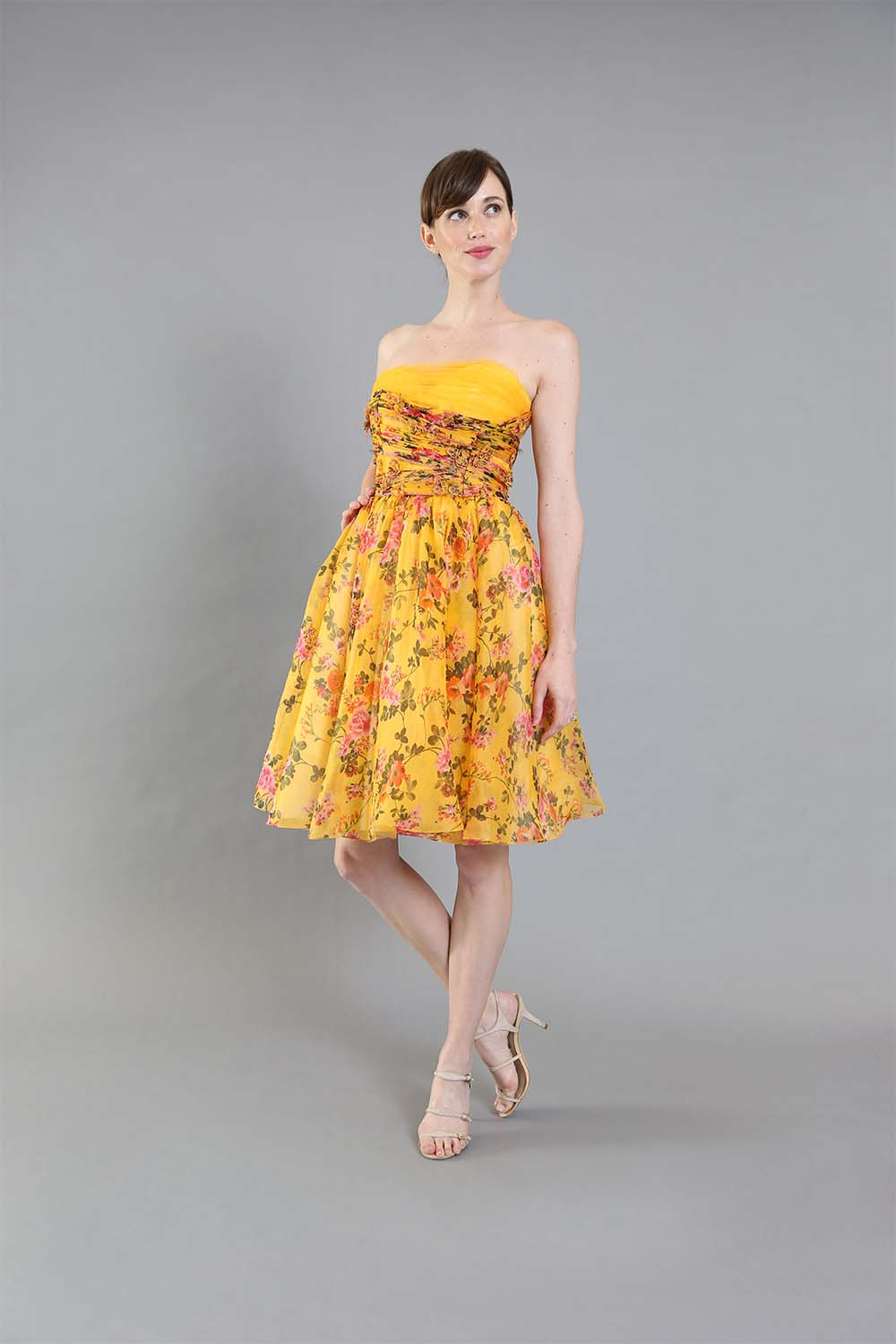 Barbie Yellow Floral Cocktail-front