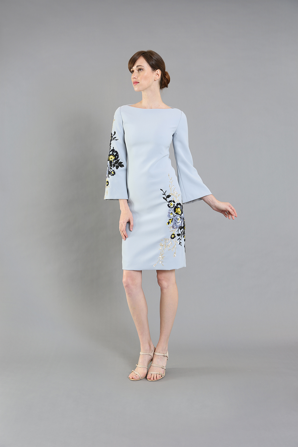 Joanna Blue Floral Cocktail-front