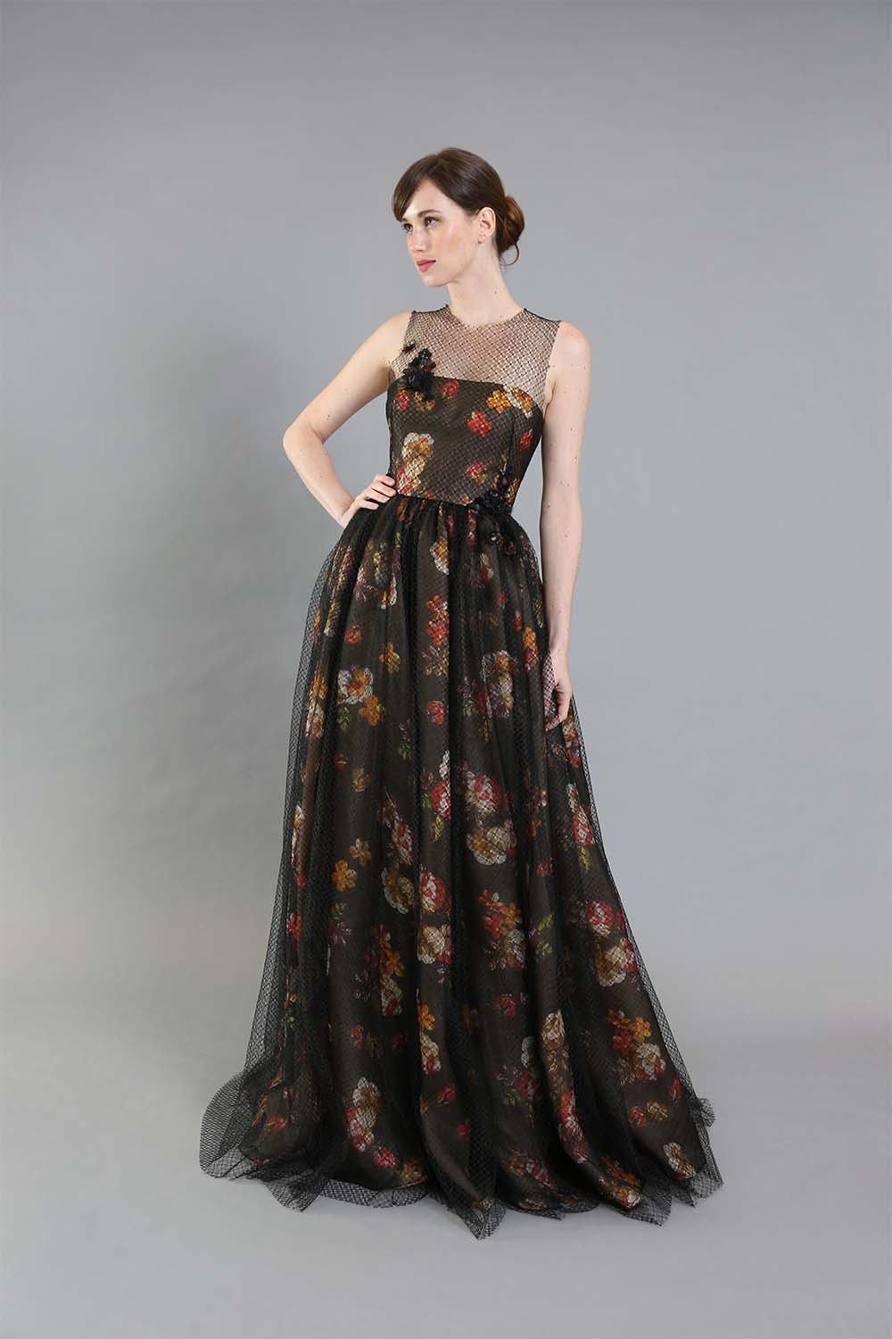 Gigi Floral Organza Gown-front