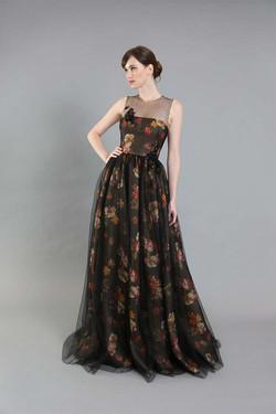 Gigi Floral Organza Gown-front
