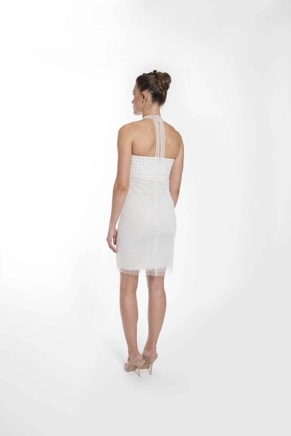 LATTICE COCKTAIL DRESS