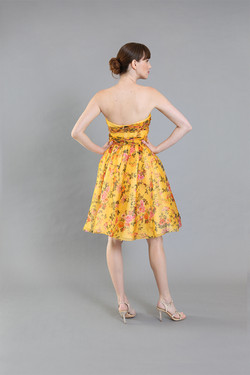 Barbie Yellow Floral Cocktail-back