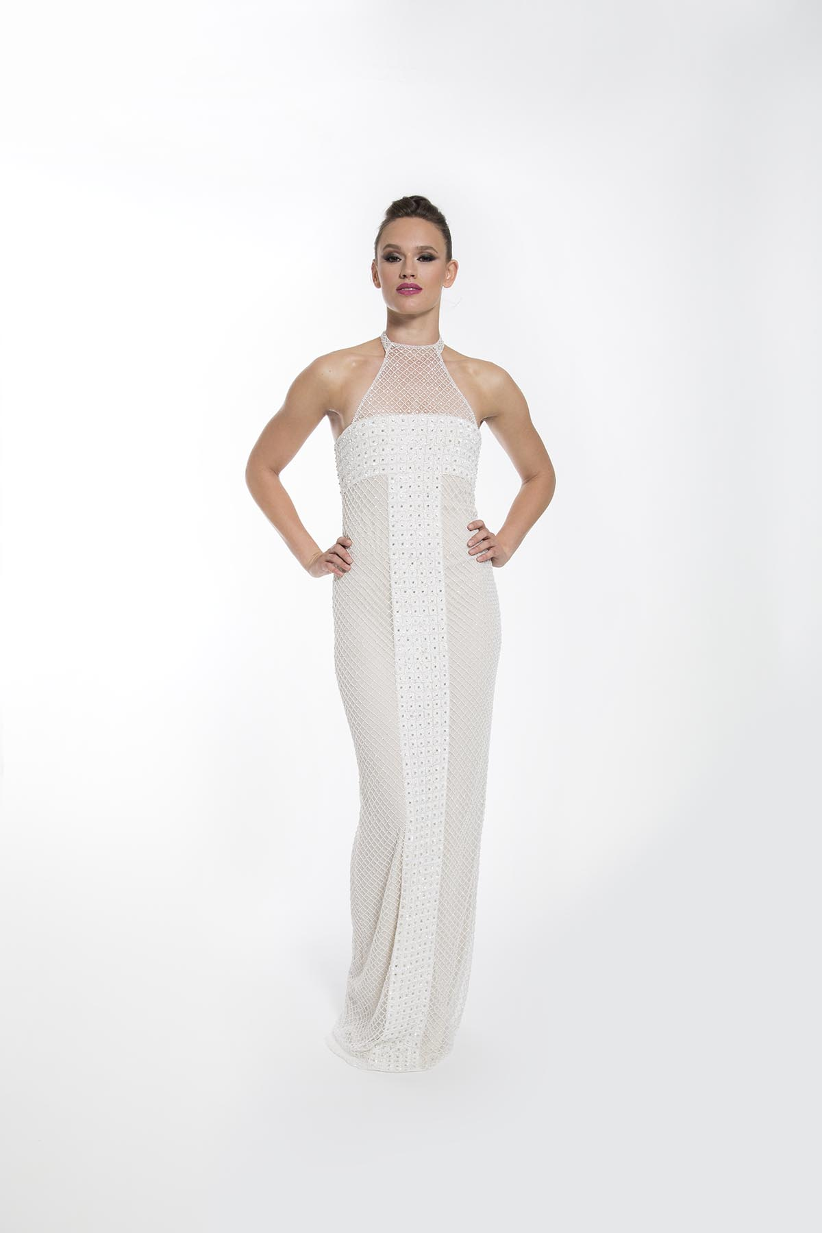 LATTICE GOWN
