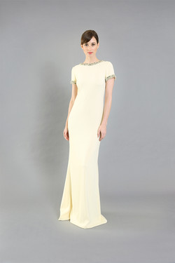 Jackie Yellow Beaded Gown-front