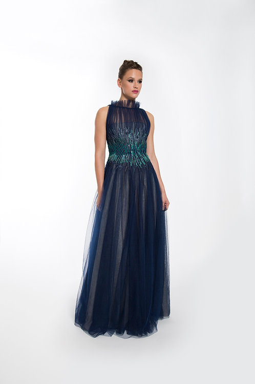 Navy Ice Gown - Size 4