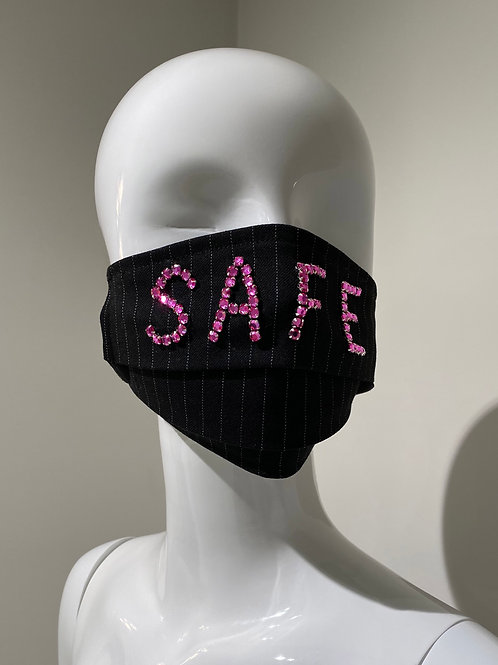 """Safe"" Embroidered Mask Pleated"