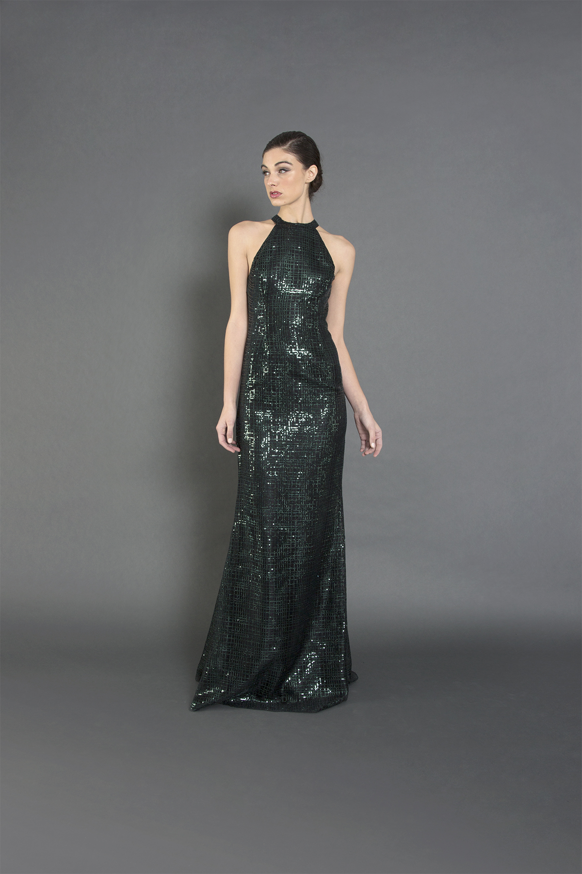 Holiday Sequin Silvia Gown-F