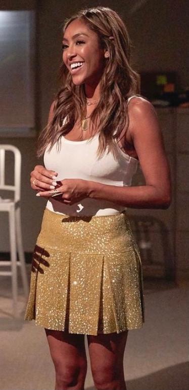 Gold Sequin Cheerleader Skirt