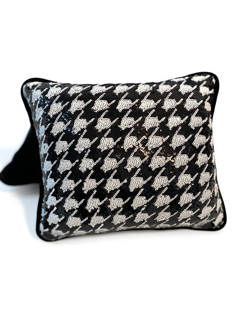 Couture Small Sequin Houndstooth Pillow