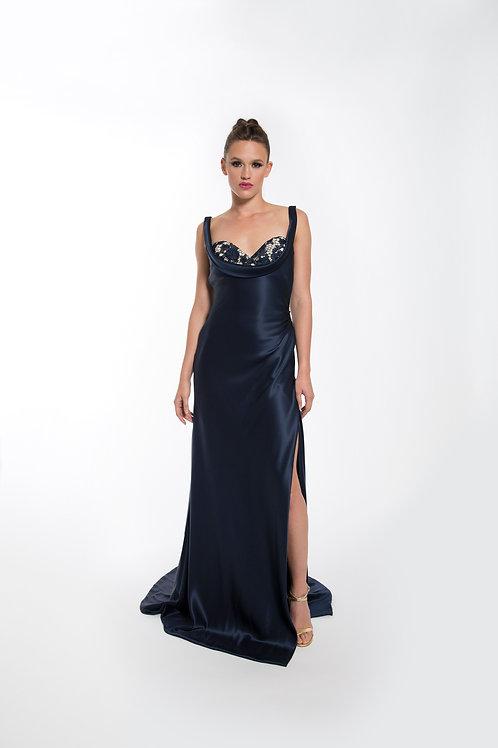Navy Bralette Gown - Size 4