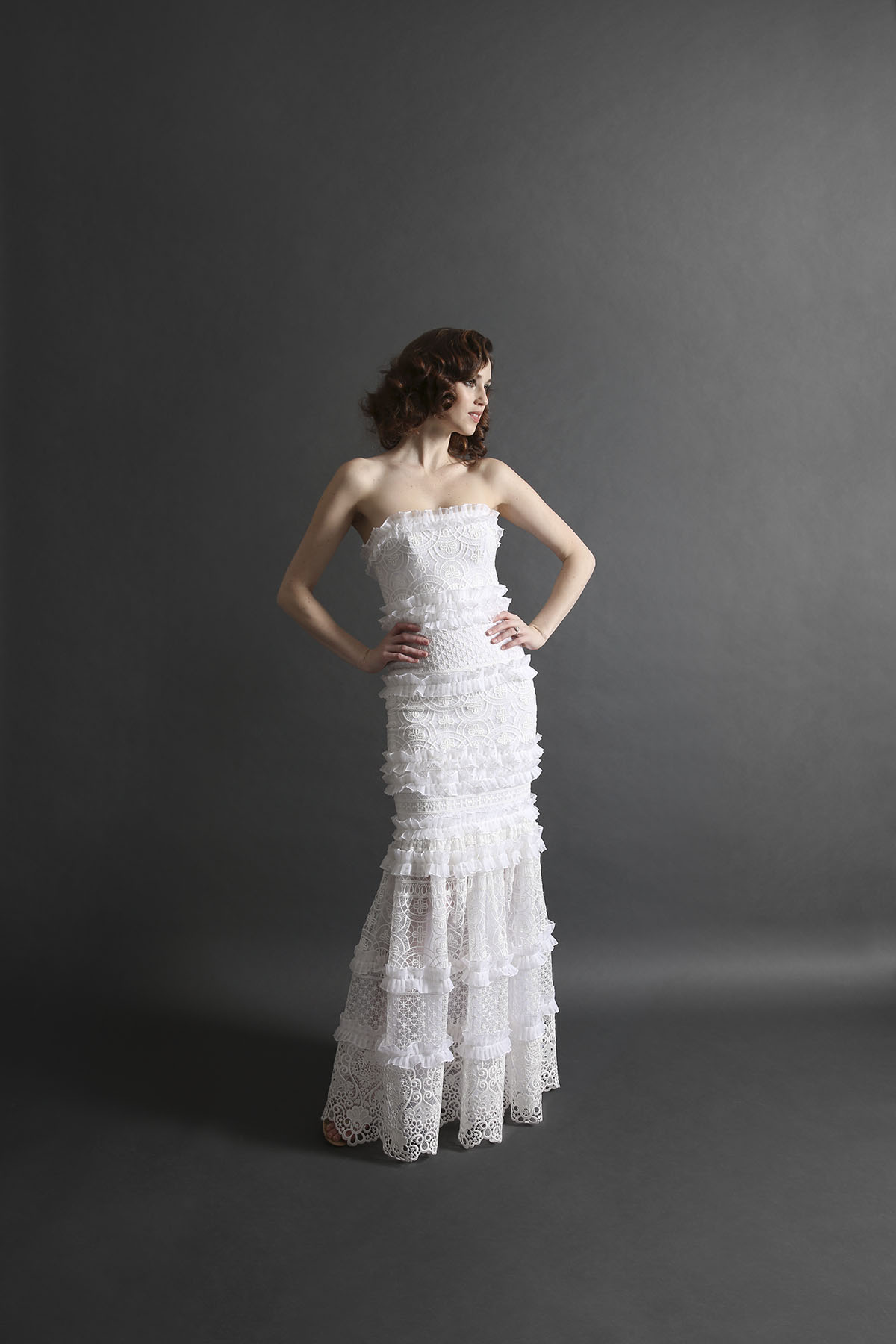 Laurie Ann Ruffle Gown_Front