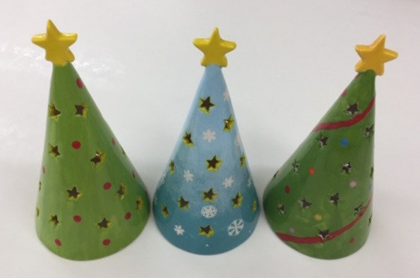 Cone Tree Votive - 17.8cm h x 8.9cm w