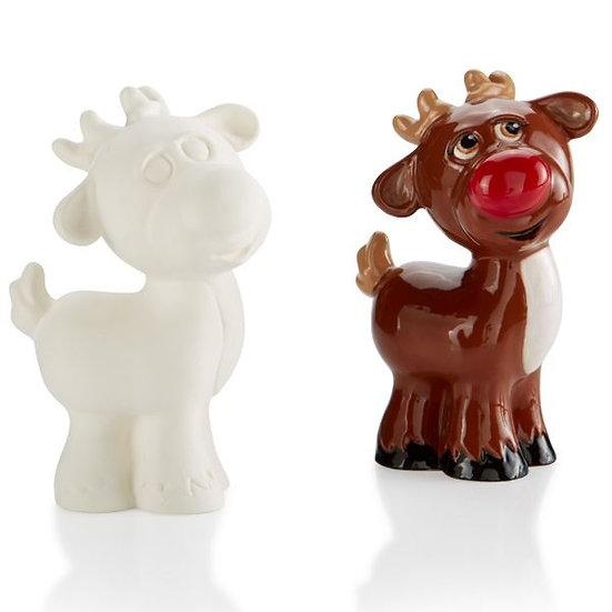 Med Reindeer figure - 12.7cm x 8.2cm