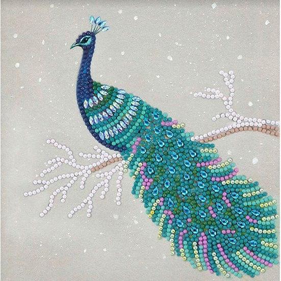 Peacock Crystal Art Card Kit