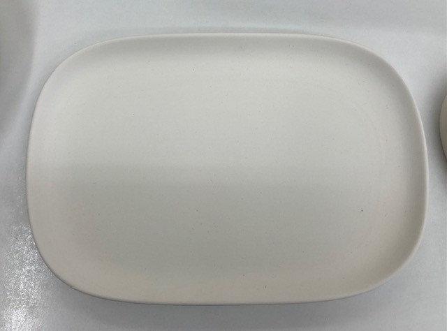 Rect round edged dish 26.5cm x 18cm