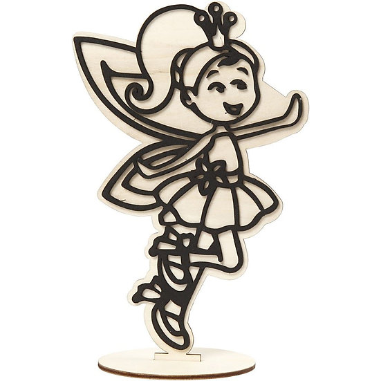 Fairy Wooden Craft Figure 21cm H