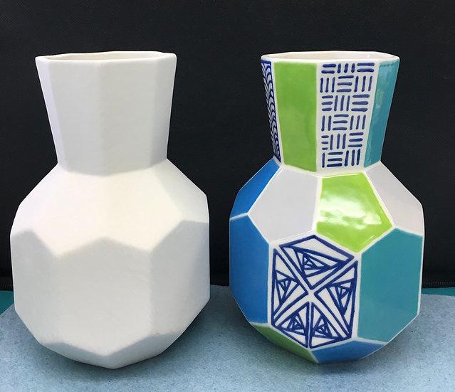 Faceted Bud Vase 15.5cm h