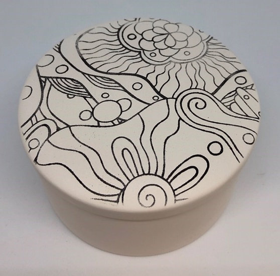 Preprinted round Trinket Box