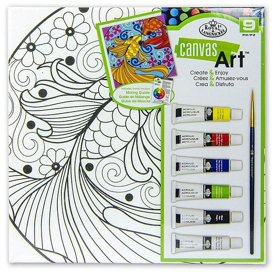 Fish canvas kit with Acrylic Paints
