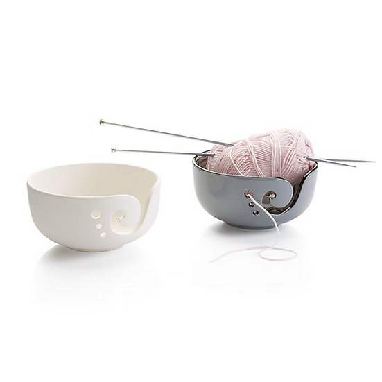 Yarn bowl with multiple holes - 16cm x 8.2cm h