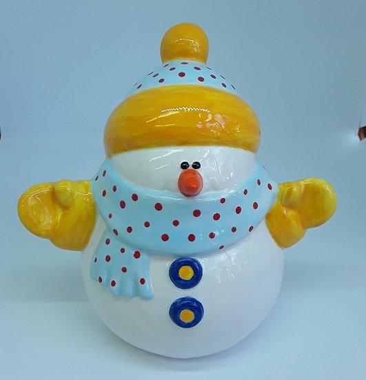Large Snowman Figure - 16cm h